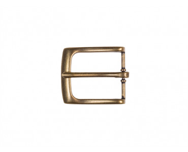 Antiqued Brass Dress Belt Buckle