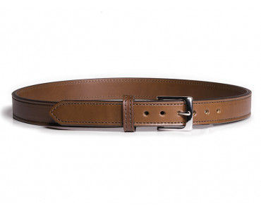 Slim Steel Dress Gun Belt - Brown