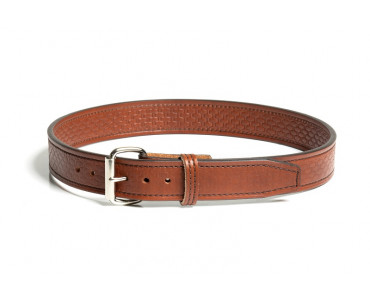 light brown leather basket weave gun belt