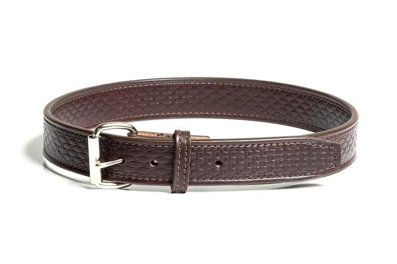 dark brown leather gun belt