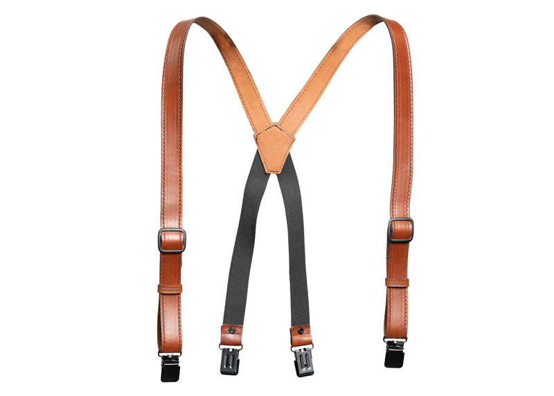 best brown leather suspenders