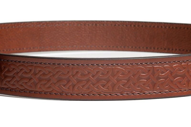 Celtic Embossed Leather Gun Belt
