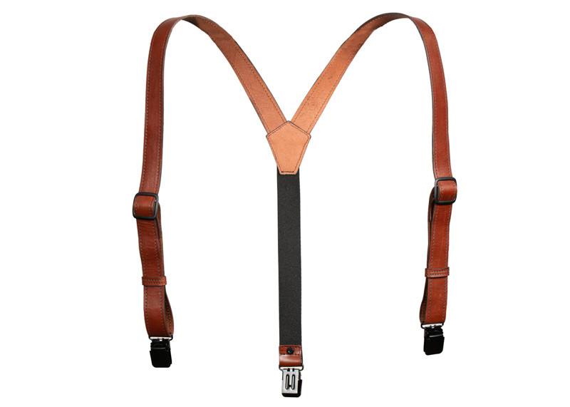 y backed brown suspenders
