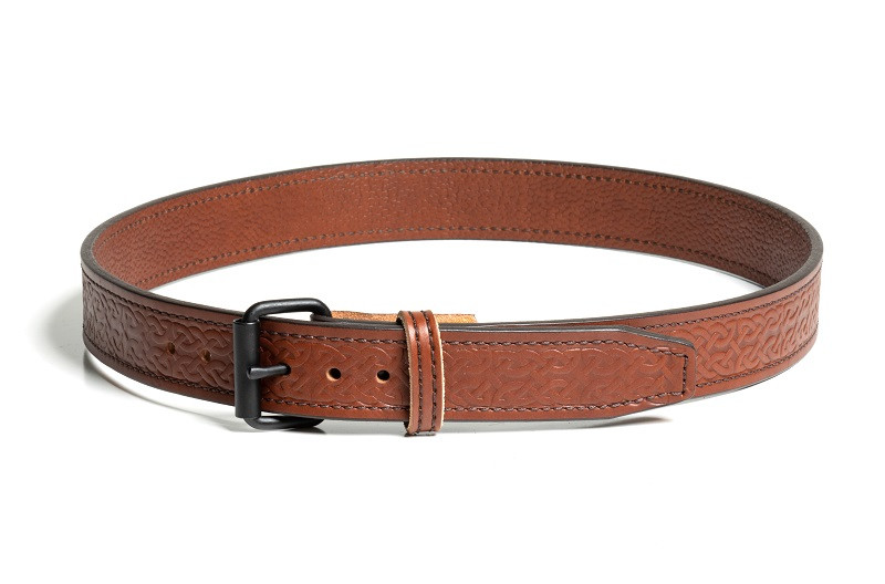 Celtic Design Light Brown Belt