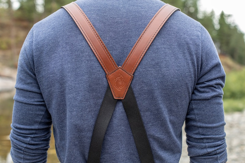 american made brown suspenders