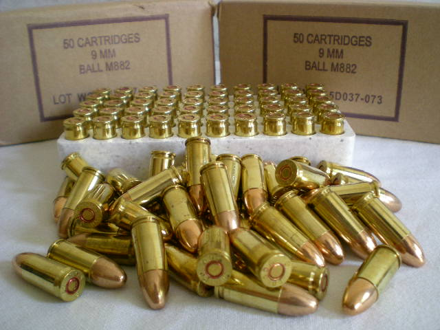 Standard 9mm NATO rounds