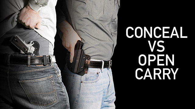 open carrying means completely out in the open