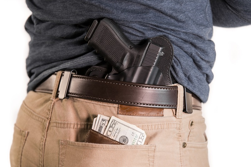 dealing with your wallet while concealed carrying