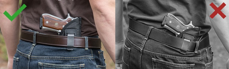 gun belt sag is not good