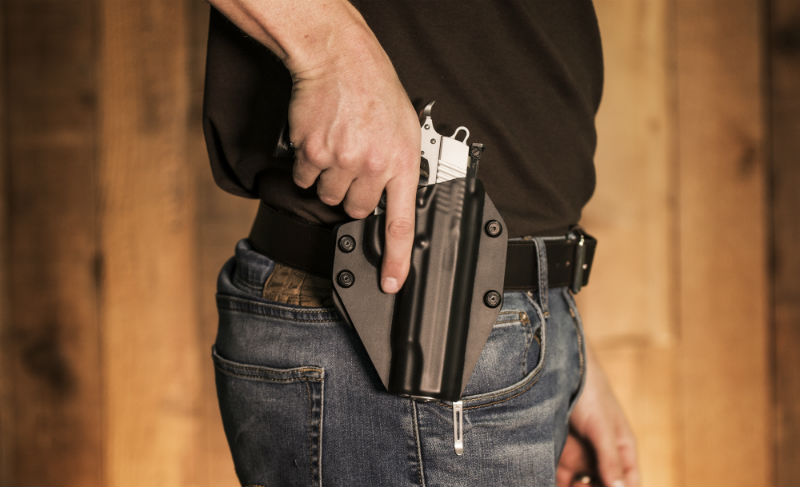 man wearing quality gun belt