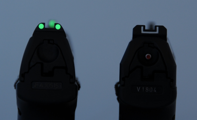 photoluminescent night sights