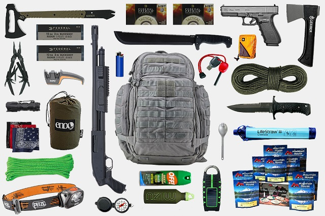 A bug out bag with extra supplies if you need to hoof it out of the area can save your hide