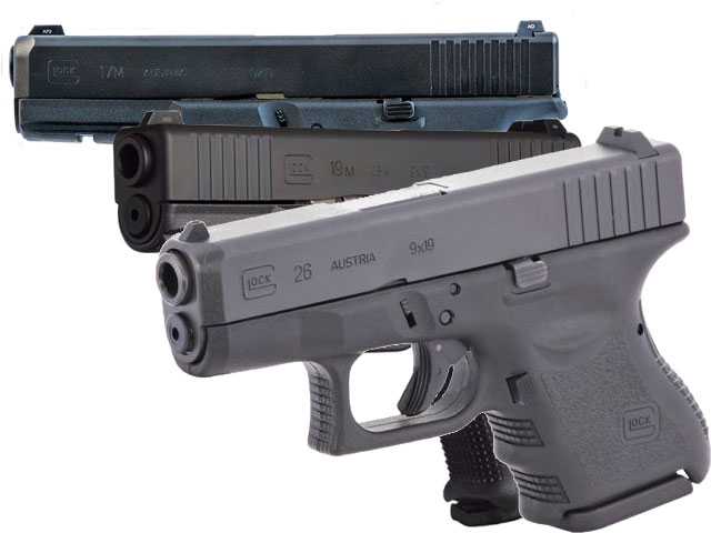 The Glock 17M, Glock 19M, and Glock 26 for the FBI