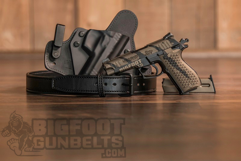 inexpensive leather gun belts