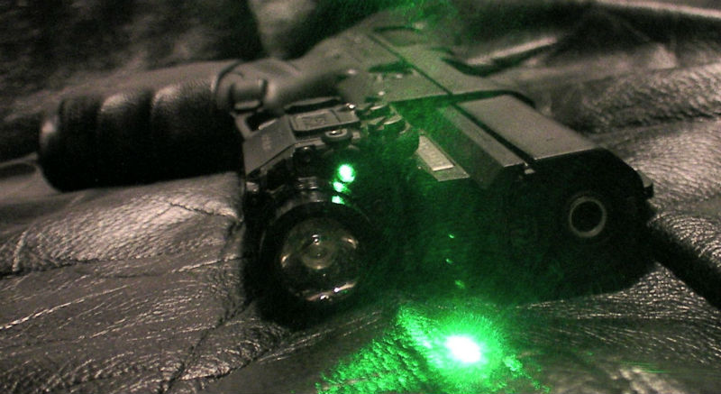 laser gun night sights