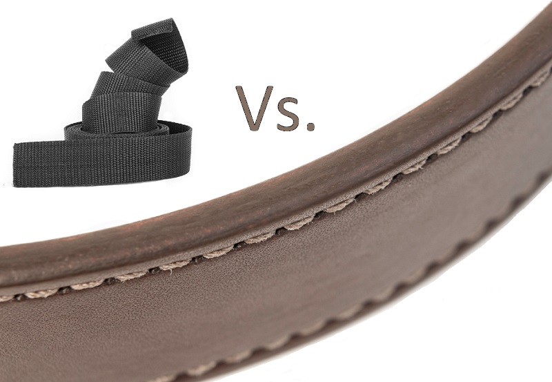 leather gun belt vs nylon