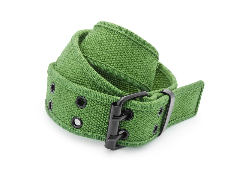 green riggers belt for pistol carry
