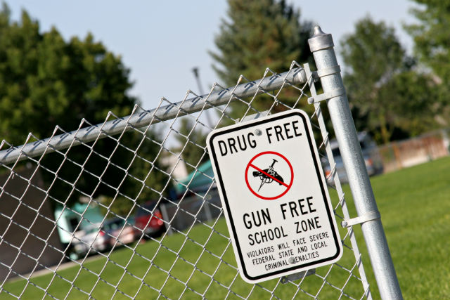 Most schools are gun free zones