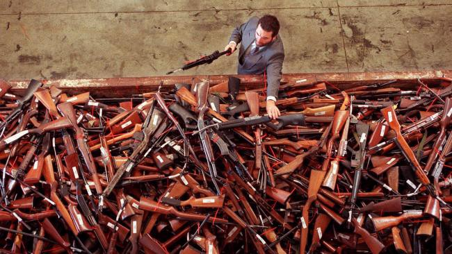 Giant pile of guns from a buyback program