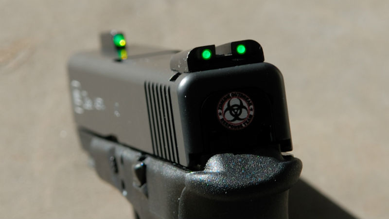 glow in the dark gun night sights