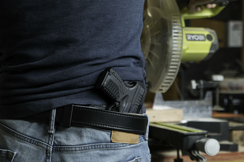 handgun belt support